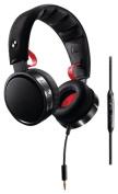 Philips SHO7205BK/28 O'Neill The Construct Headband Headphones, Black/Red