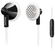 Philips - Earbud Headphones - Black/White