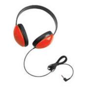 Califone - Children's Stereo Headphone Lightweight Via Ergoguys - Red