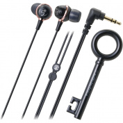 Audio Technica ATH-CKF500BK In-Ear Headphones with Rhinestone, Black