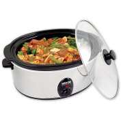 .  Chef 3.5-Litre Slow Cooker with Removable Stoneware, Stainless Steel
