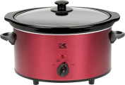 Kalorik 3.5l Slow Cooker, Red and Stainless Steel