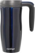 Contigo Autoseal Vacuum Insulated Randolph Handled Travel Mug with Lock, 470ml, Midnight Blue