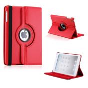 DrHotDeal - iPad Mini 360 Degree Rotating Black PU Leather Cover Case with Swivel Stand