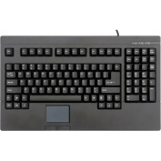 Solidtek POS Keyboard with Touch-Pad, Black