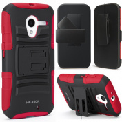 i-Blason - Prime Series Dual Layer Holster with Kickstand and Belt Clip for Motorola Moto X