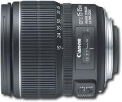 Canon - EF-S 15-85mm f/3.5-5.6 IS USM Standard Zoom Lens - Black