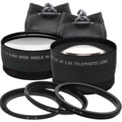 Precision Design - 2.5x Telephoto + .45x Wide-Angle Digital Lenses