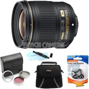 Nikon - Bundle AF-S NIKKOR 28mm f/1.8G Lens w/ 5-Year USA Warranty
