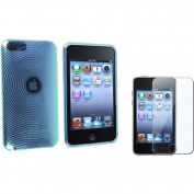 eForCity - TPU SOFT Skin Case and Screen Protector/guard Bundle For iPod Touch 2/3