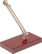 On-Stage - Executive Desktop Microphone Stand - Brushed Aluminium