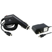 eForCity - WALL AC and CAR CHARGER Bundle For Garmin NUVI 1450 1490T 200 200W