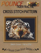 Pounce Tiger Fractal Cross Stitch Pattern