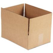 Corrugated Kraft Fixed-Depth Shipping Carton, 9w x 12l x 4h, Brown, 25/Bundle