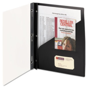 Smead Clear Front Poly Report Cover With Tang Fasteners, 8-1/2 x 11, Black, 5/Pack