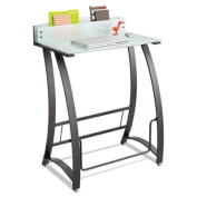 Xpressions Stand-Up Workstation, 35w x 24-3/4d x 49-1/4h, Frosted/Black