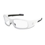 Swagger Safety Glasses, White Frame, Clear Lens