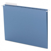 Color Hanging Folders with 1/3-Cut Tabs, 11 Pt. Stock, Blue, 25/BX