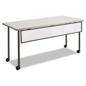 Impromptu Modesty Panel, Polycarbonate/Steel, 66w x 1d x 9h, Black