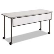 Impromptu Modesty Panel, Polycarbonate/Steel, 54w x 1d x 9h, Black