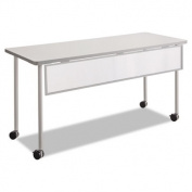 Impromptu Modesty Panel, Polycarbonate/Steel, 54w x 1d x 9h, Silver