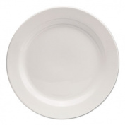 "Chef's Table Porcelain Round Dinnerware, Dinner Plate, 10"" dia, White, 8/Box"