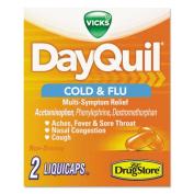 Cold & Flu Caplets, Daytime, Refill, 20 Two-Packs/Box