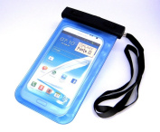 CyberTech 6.1m Waterproof Pouch Dry Bag Case Cover for Apple iPhone 5S 5C 5 4S 4 3, Galaxy S4 S3, HTC One, iPod Touch 5 And More - Also fits other Large Smartphones up to 13cm (Colour