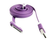 Noodle Flat USB Data Cable Line Wire Cord for iPhone 4 4S iPad 2 3