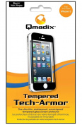 Qmadix QM-TTAAPIP5 Tempered Tech-Armour Screen Protector for iPhone5 - 1 Pack - Screen Protectors - Retail Packaging - Clear/Black
