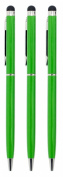 24/7 Cases 3 pcs Green Universal Slim Touch Screen Cellphone Tablet Pen for iPhone 5, iPad 4 & 5 iPad Mini, for for for for for for for for for Samsung Galaxy S3 & S4