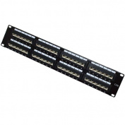 Patch Panel, 48 Port, CAT 5e, Straight Entry