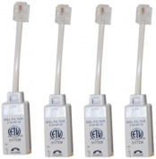 Actiontec Universally Compatible Inline DSL Phone filters - 4 Pack
