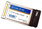 SMC EZ Card 10/100, 32-bit 10/100Mbps Dongle-less CardBus Adapter with RJ-45 Connector