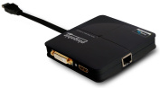 Plugable USB 3.0 Dual-Head Graphics (DVI / VGA plus HDMI) and Gigabit Ethernet Adapter (DL3900 chipset) for Windows 8.1, 8, 7, and XP