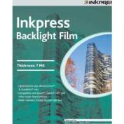 Inkpress IBF851150 Specialty Media Backlight Film 7 Mil 22cm . X 28cm . 50 Sheets