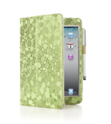iPearl Carrying Folia Cover Case(with Built-in Stand, hand strap, auto sleep/wakeup and Touch Screen Stylus Pen) for Apple iPad mini 20cm - Green Diamond Design