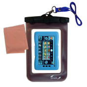 outdoor Gomadic waterproof carrying case suitable for the KD Interactive Kurio Touch 4S to use underwater - keeps device clean and dry