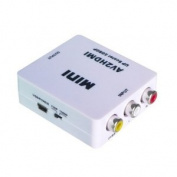 iMonitor Mini AV/CVBS Composite RCA to HDMI 720p/1080p Upscaling Video Converter Adapter - White