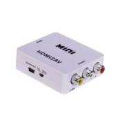 iMonitor Mini HDMI to AV CVBS FL FR 480i 576i fr TV VHS VCR DVD NTSC/PA - White