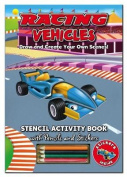 Activity Stencil Books - Racing Cars