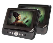 Proscan 18cm Dual Screen Portable DVD Player with USB/SD Card Reader, Car Mounting Kit