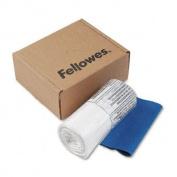 o Fellowes o - Powershred Shredder Bags, 37.9l Capacity, 100 Bags & Ties/Carton, Clear