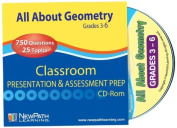 NewPath Learning All About Geometry Interactive Whiteboard CD-ROM, Site Licence, Grade 3-6