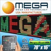 LED SIGNS 200cm X 38cm BRIGHT PROGRAMMABLE SCROLLING MESSAGE DISPLAY / BUSINESS TOOLS