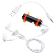 TOMTOP 4GB Swimming Diving Water Waterproof MP3 Player FM Radio Earphone Black