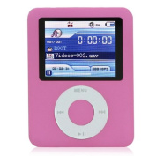 Ravo New LCD Screen 8GB MP3/MP4 Player with FM Radio Games & Movie Player - Pink
