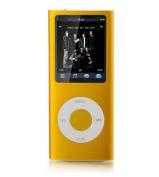 8GB 8G MP3 MP4 4.6cm LCD Media Player Vedio FM Slim 4rd Gen Yellow