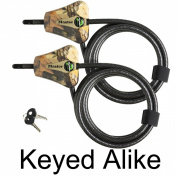 Master Lock - Python Trailer Camera Adjustable Camouflage Cable Locks 8418KA-2 CAMO