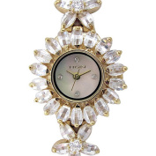 Elgin Women's Crystal Accent Gold-Tone Flower Watch
